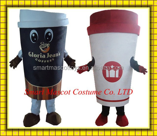 Coffee cup mascot costume manufacturers cup of coffee costume adult coffee cup costume with 100% positive feedback