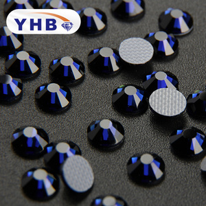YHB new arrival colors high quality hotfix flat back rhinestones for nail bracelet