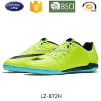 new design men indoor rubber soccer shoes football shoes flywoven upper brand shoes