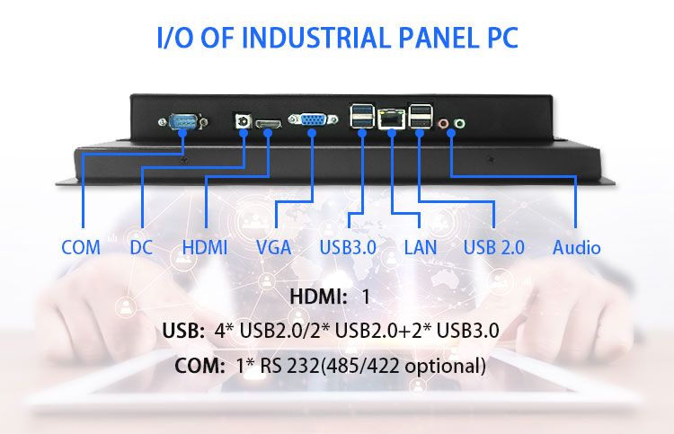 10.1 inch monitor Intel Dual core Industrial touchscreen computer panel