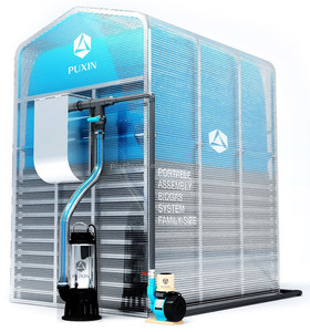 mini Portable biogas power plant to generate electricity from waste