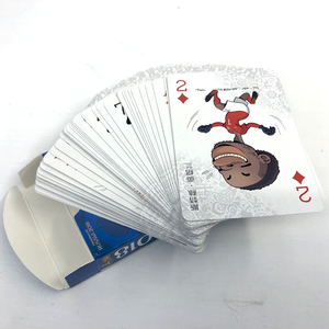 Custom eco-friendly design your own logo adult poker paper blank printed playing cards