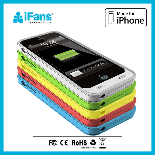 for iphone 5C power battery case manufacture