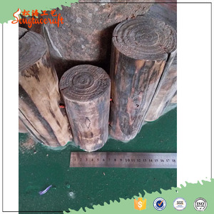 2016 newest best selling customized size brown plastic artificial tree stumps