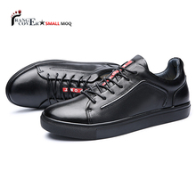 China Wholesale Fashion Blank Leather Custom Men Shoes And Sneakers