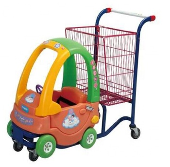 2018 trolley cart 4 flat/elevator Guaranteed Quality Low Price Kid Toy push convenient trolley