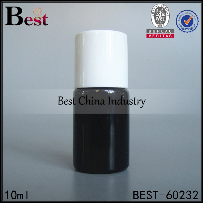 10 ml empty glass black coating gel nail polish bottles full white cover beauty personal care