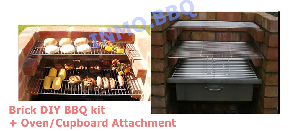 Brick DIY BBQ kit + Oven/Cupboard Attachment