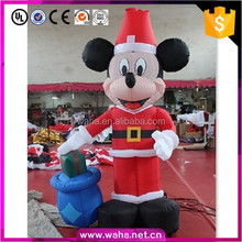 Best price customized inflatable Christmas decoration mouse cartoon