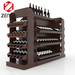 Commercial Wooden Whisky Wine Glorifier Bottle Stopper Display Shelf Cabinet Racks Liquor Store Equipment
