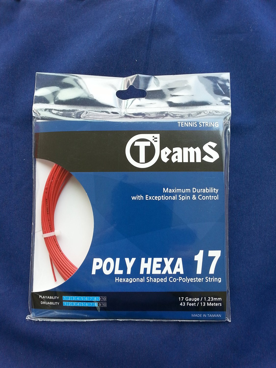 Tennis String Poly Hexa 17 . Power, Spin, Control, Gut, Strings,guts, Polyester