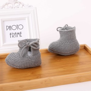 Custom Seamless Warm Soft Newborn Baby Knit Shoes