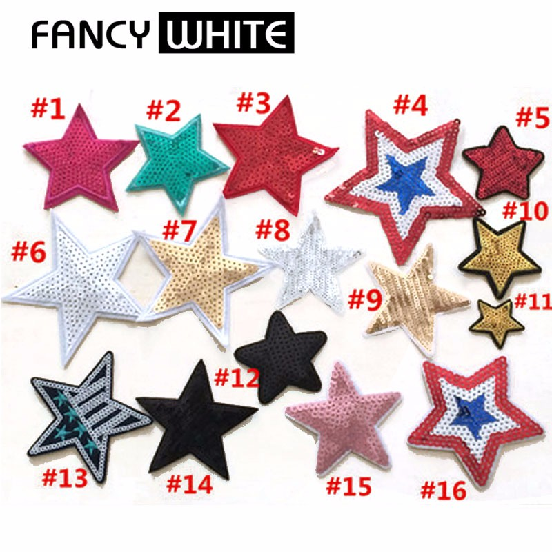 Cheap different colored star kinds new embroidered hand made patch
