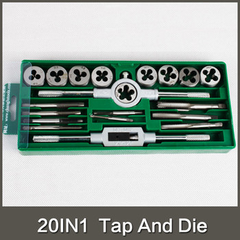 20pcs metric tap and die set m3 m4 m5 m6 m7 m8 m9 m10 m12