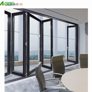 2018 hot sale Aluminum Glass Accordion Door / Stacking Door for patio