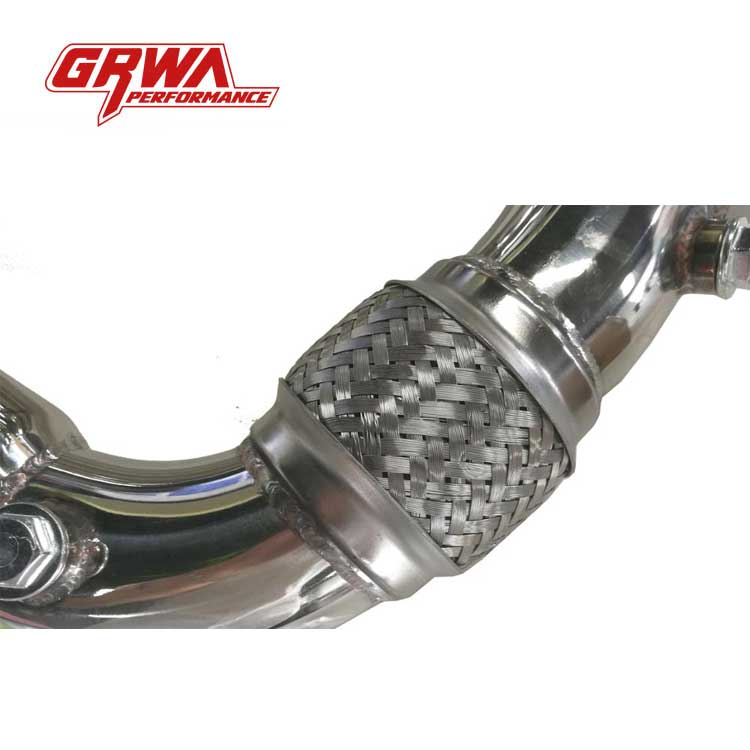 GRWA Stainless Steel Exhaust Downpipe For BMW X6 X5 5- 7 SERIES N63 B44 4.4 V8