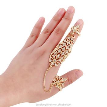 Latest Gold Finger Ring Designs Long Finger Chain Ring Buy