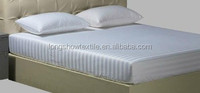 china hotel supplier queen size rubber white fitted sheet