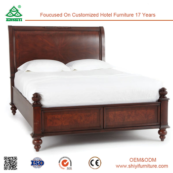 Malaysia Style Antique Hand Queen Bed Frame Carved Solid Wood