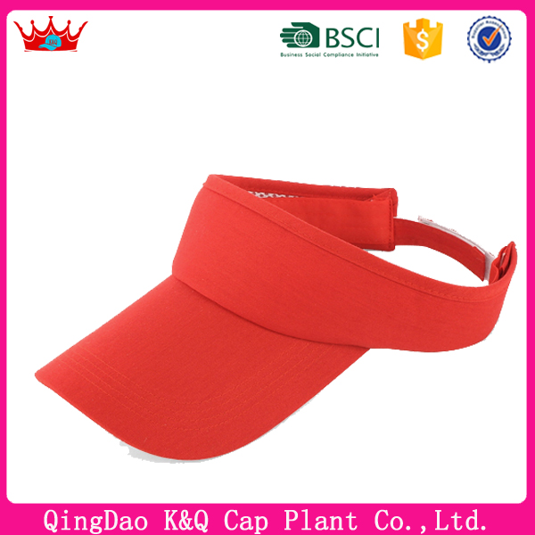Heigh quality sun visor caps with long custom visor and black waterproof sun visor cap