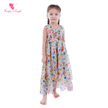 Toddler Girl Boutique Clothing Summer Sleeves Floral Long Maxi Dress Wholesale Baby Girls Party Dress