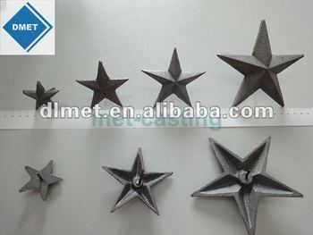 Iron Casting Hanging Decorative Metal Stars Star Wall Decor Decoration Product On