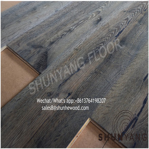 Multilayers plywood click lock european oak engineered wood parquet flooring