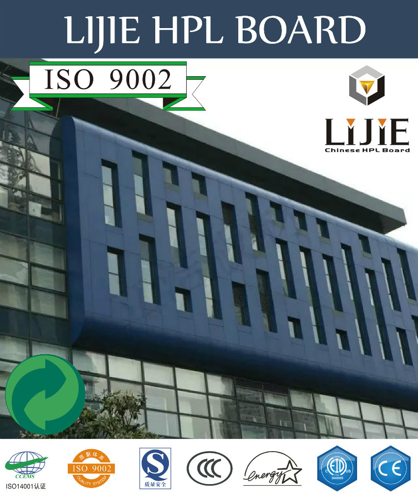 Lijie safe install CNC process machine facade decoration hotel school material wall siding exterior hpl panel