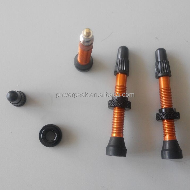 34mm, 36mm, 44mm, 50mm Aluminum bicycle tubeless tyre valves stem, core and caps