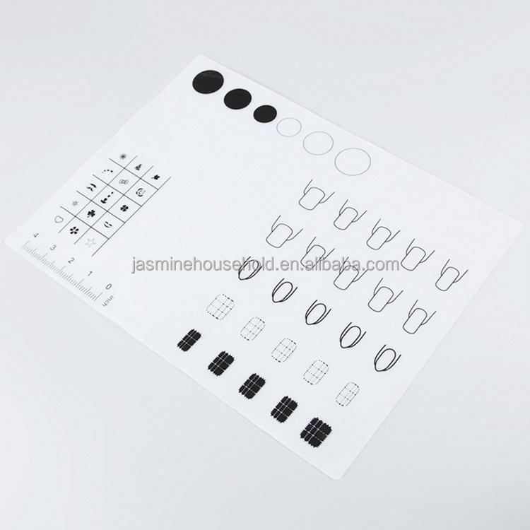 Washable Silicone Workspace Plate For Nail Art Silicone Nail Mat