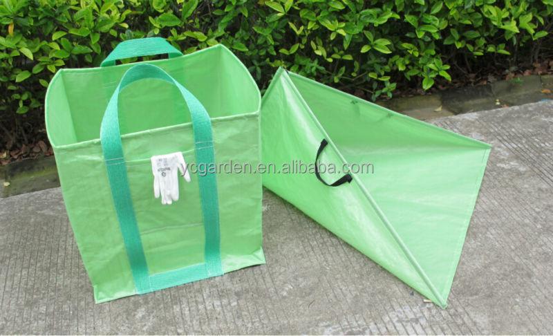 garden bag. Pp Tripod Leaf Collector Garden Waste Bag N