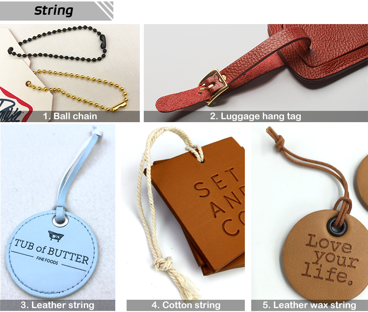 brand logo fashion  custom leather hang tag  for clothing