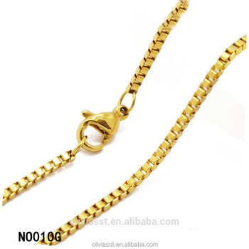364dcf2046f Latest design fashion tiny simple gold chain necklace designs for ladies  with lobster clasp