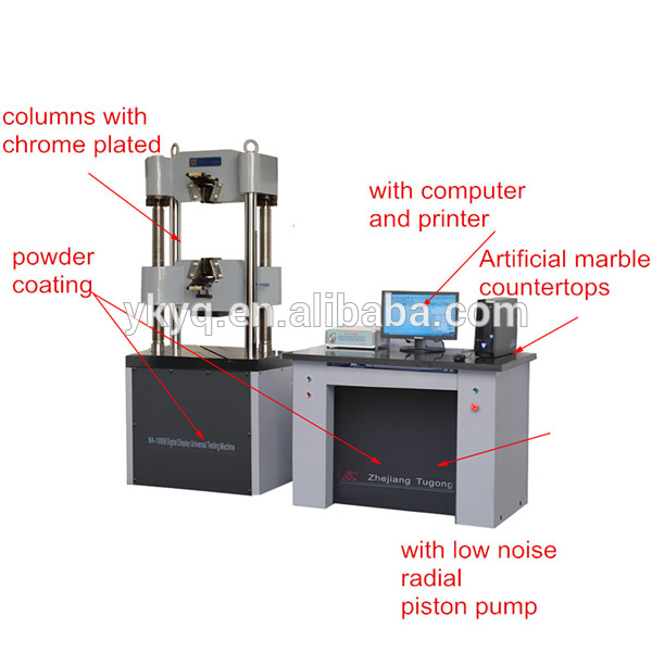 WAW Electro-hydraulic Servo Microcomputer Control Universal Test Machine Use for Tensile Compression Bending and Shear