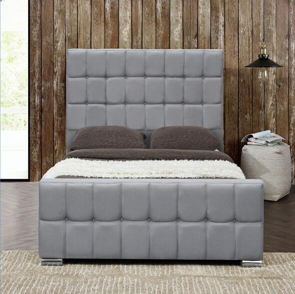 Top Quality Luxury Velvet Fabric Bed For Bedroom Furniture