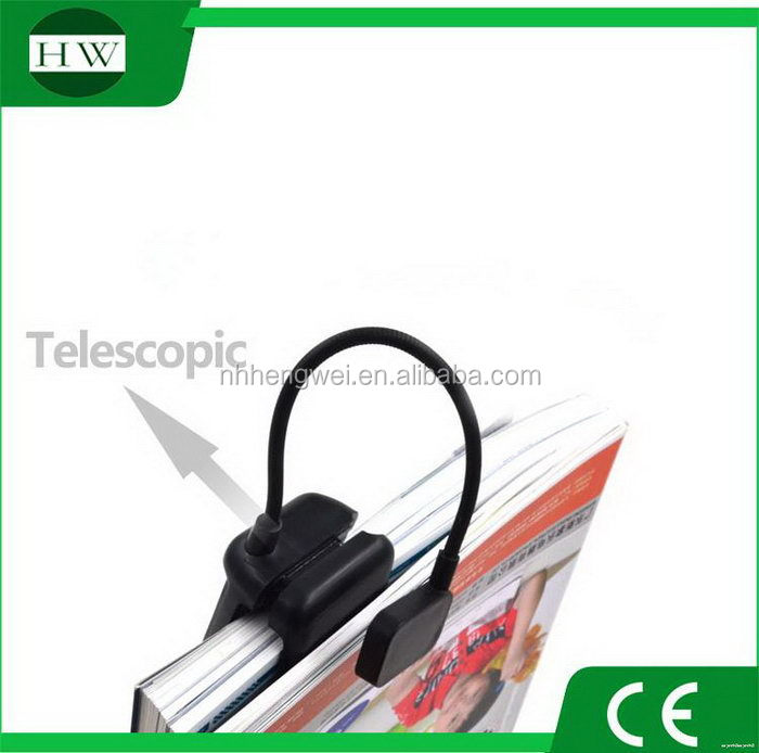 Fashionable classical 2 led book read light light with clip