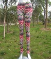 New Pattern Women 3D Print Chevron Leggings