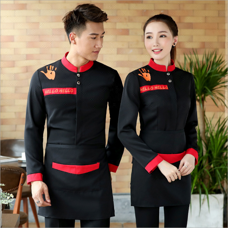 Custom Hoge Kwaliteit Hotel Restaurant Waitress Uniform