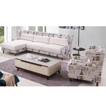 American Country Style Sofa Set Modern Living Room Furniture Wooden Sofa Set