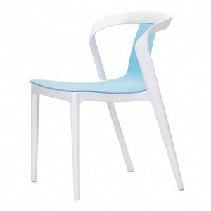 china factory living room furniture hot sale plastic chair Italian design stackable plastic living room chair