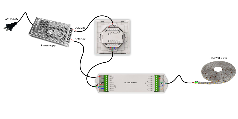 0  1-10v Led Dimmer Wire Diagram With Push Button