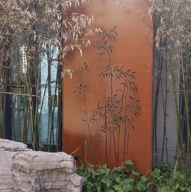 Outdoor Decorative Laser Cut Corten Steel Wall Panel