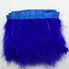 Wholesale dyed Soft And Fluffy Marabou Turkey Ostrich Feather Trim with satin ribbon tape feather lace trim