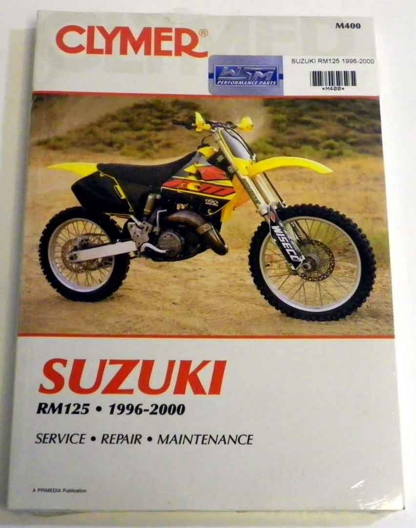 Get Quotations · ATV/Moto-X Suzuki Clymer Manual Models RM 125 Hp 1996-2000  WSM