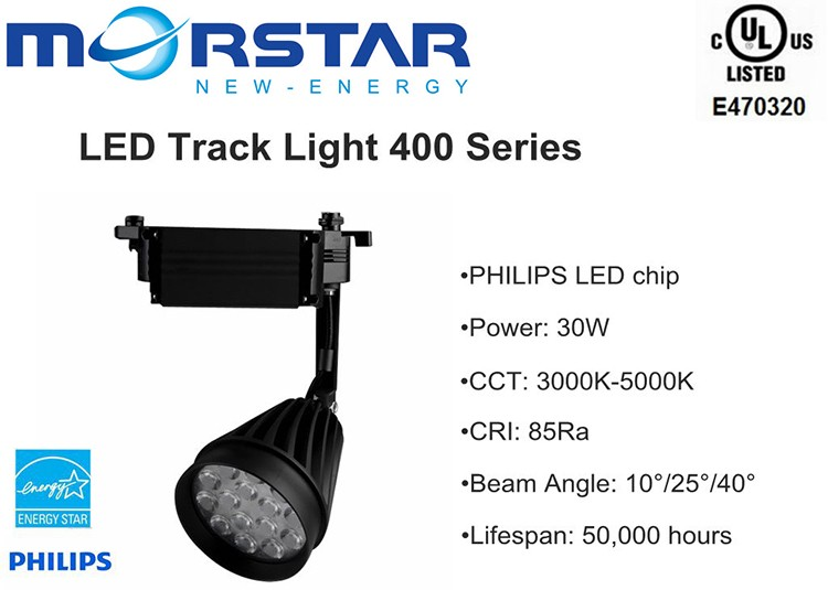 UL listed Cob chip led track light with efficiency sure to turn heads