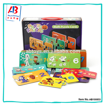 Popular Halloween Pattern Math Cards 30 Selfs Correcting Paper Puzzle Set For Children Buy Paper Puzzle Cards Paper Puzzle Game Paper Puzzle Product