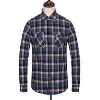 West cowboy country plaid men casual classic shirt