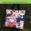 Fashion cat printing canvas bag with long shoulder strap
