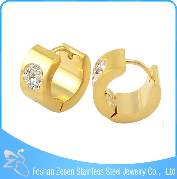 ZS05515 ladies gold plated crystal hoop earring , wholesale earring czech crystal jewelry
