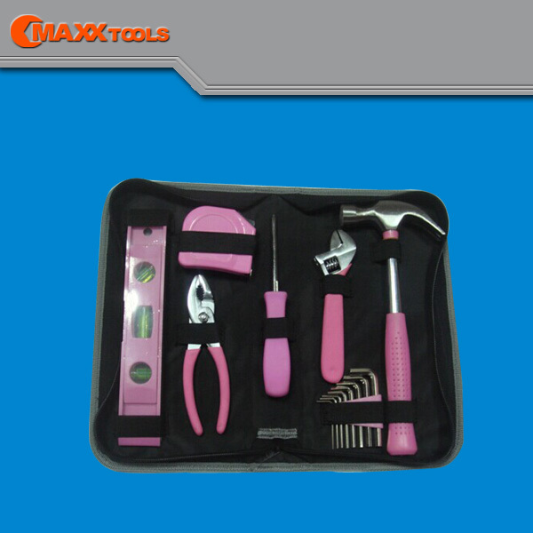2015 New Pink Tool Set/Kit for Lady,14 PCS,Home use,Hand Tool Set,Portable